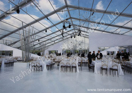 China Outdoor Transparent PVC Cover Luxury Wedding Tents Wind Resistant fábrica